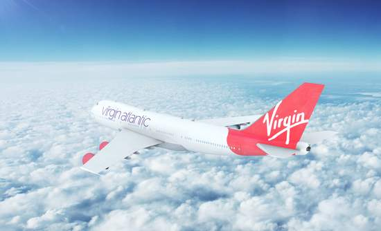 Virgin airlines airplane