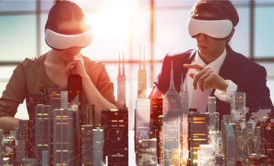 2 people using virtual reality glasses