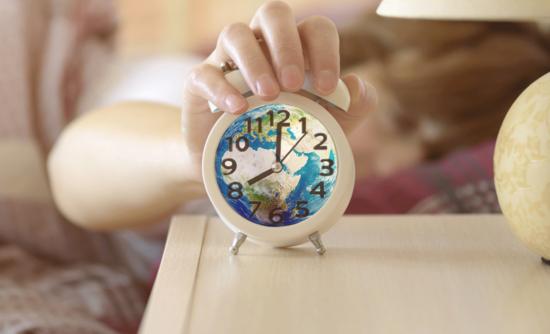 world in an alarm clock