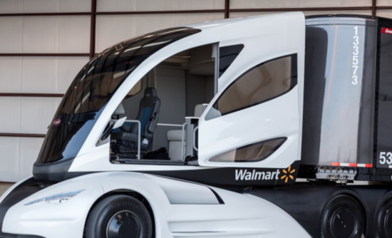 Walmart's prototype hybrid, carbon-fiber truck