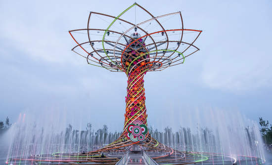 """The Tree of Life installation at Expo 2015 in Milan, Italy, which had a theme of """"Feeding the Planet, Energy for Life."""""""