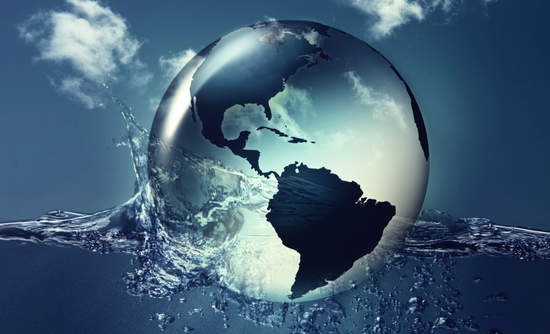 Water droplets in the world
