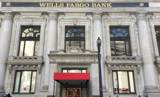 A Wells Fargo bank in San Francisco, California.