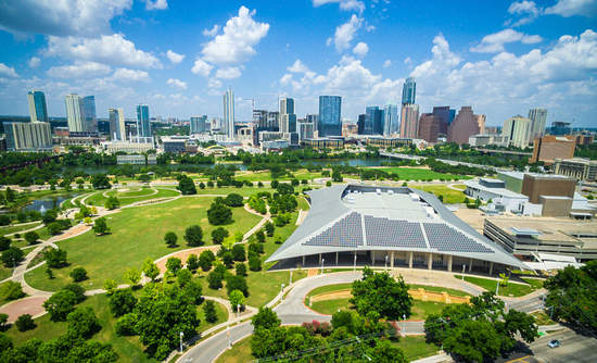 More Texas utilities, such as in Austin, pictured here, are tapping distributed solar.