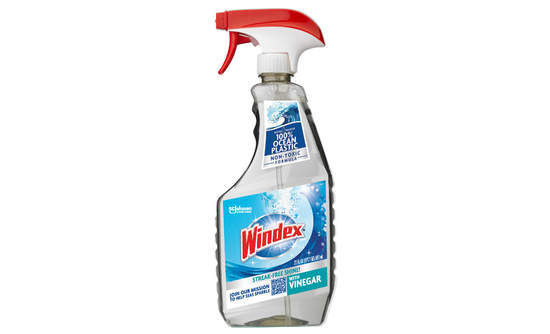 """A bottle of """"non-toxic"""" Windex with Vinegar"""