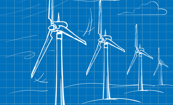 Illustration of wind farm