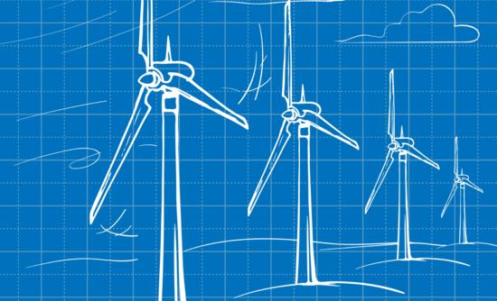Illustration of wind farm