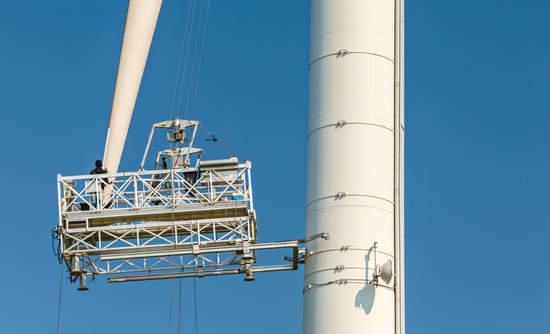 Wind turbine maintenance in the field
