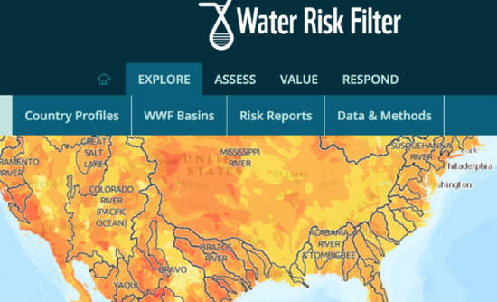 A general view of U.S. water risk: WWF Water Risk Filter