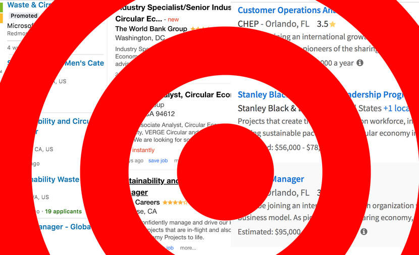 "A red target superimposed on real ""circular"" job listings."