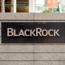 BlackRock financial services logo outside of office in San Francisco.