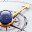 European Union symbol on a compass