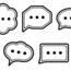 Graphic of cartoon speech bubbles