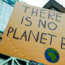 Climate march signs