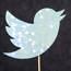 Twitter's bird icon, full of glitz