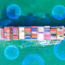 Chemicals over a container ship