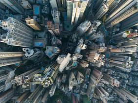 Hong Kong, aerial view