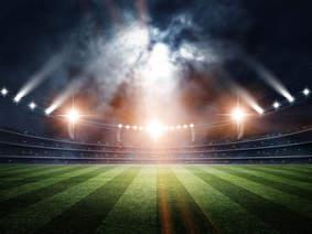 3D rendering of a sports stadium