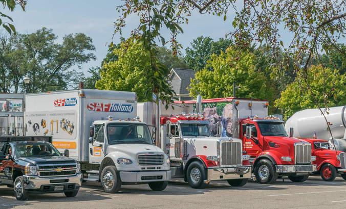 Logistics trucks