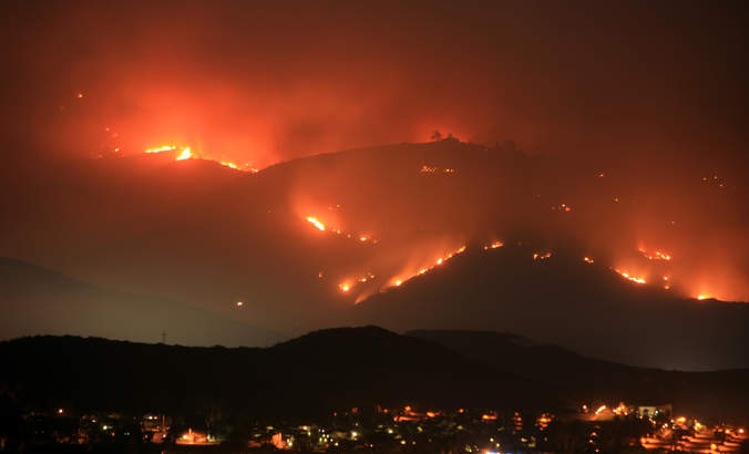 A San Diego County, California, wildfire.