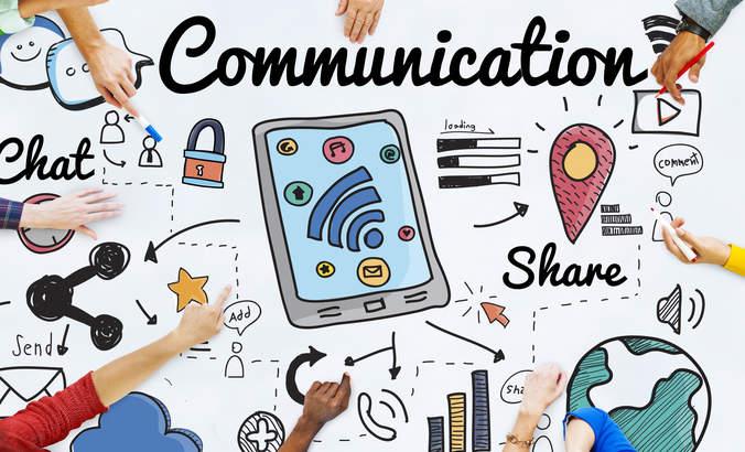 Communications concept art