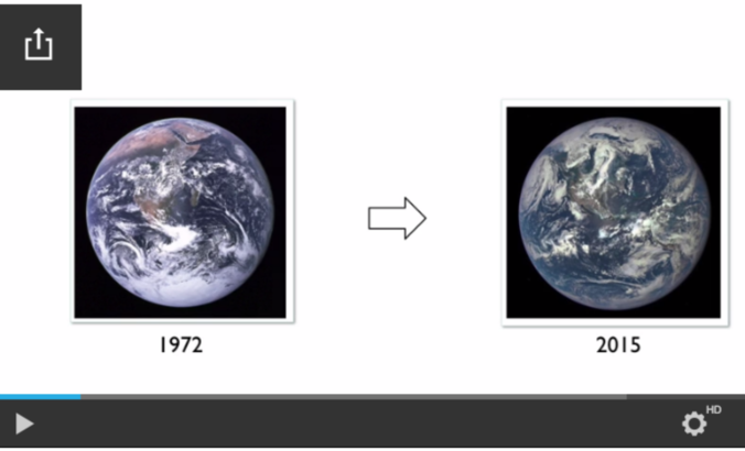 "Earth ""blue marble,"" 1972 and now"