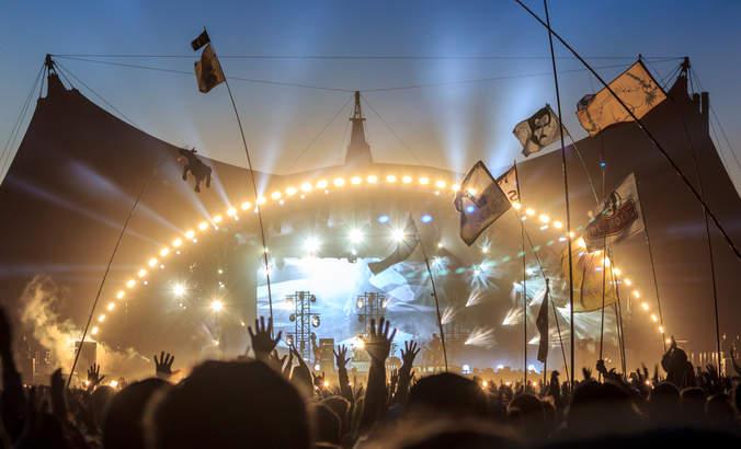 Roskilde Music Festival in Denmark.