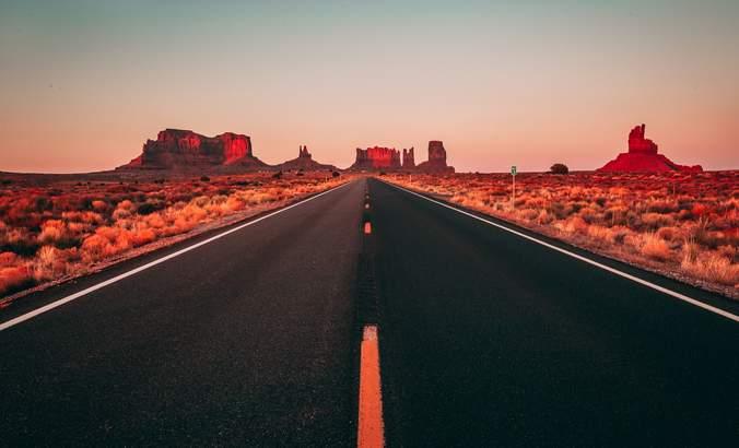 Arizona road to canyons