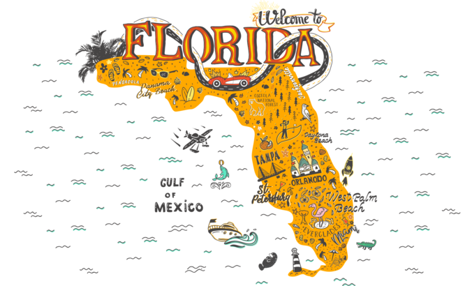Florida icon collage