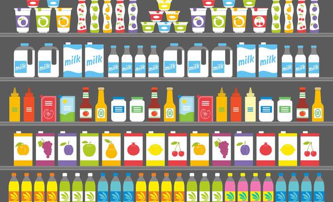 Grocery shelf shore