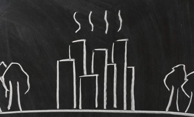 Illustration of the urban heat island effect