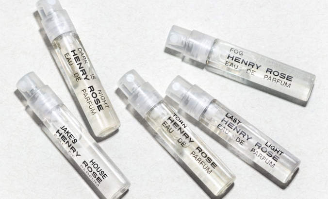 Sample vials of the first fragrances to be verified by the Environmental Working Group and Cradle to Cradle certified Gold.