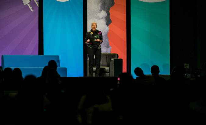 Angela Glover Blackwell, founder in residence with PolicyLink, speaks at VERGE 19.
