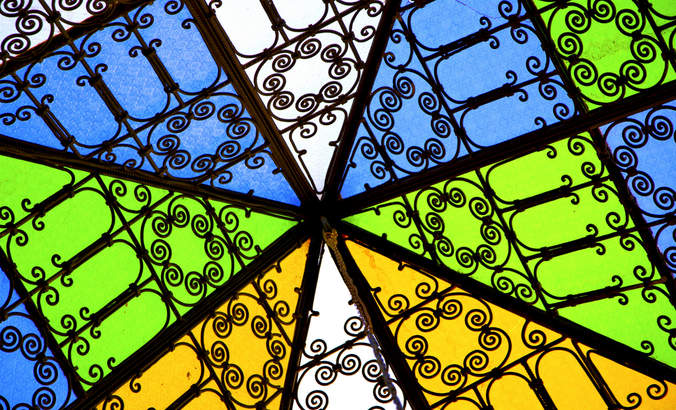 Stained glass window in Morocco