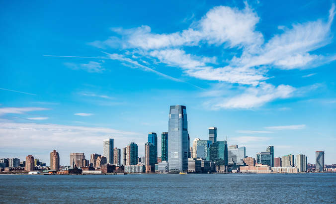 Panoramic view of New Jersey City skylines