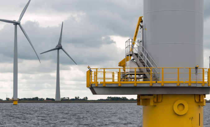 A wind turbine near the Netherlands.