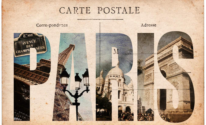 Vintage Paris postcard