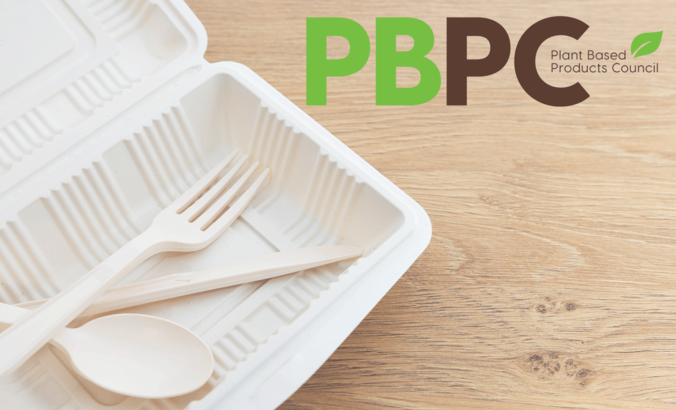 plant based product council logo over bioplastics
