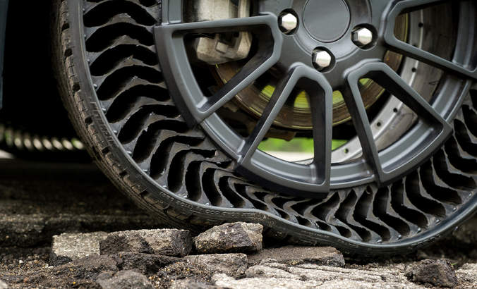 Michelin's Uptis airless tire prototype