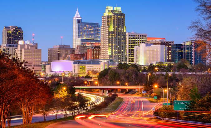 Downtown Raleigh, North Carolina skyline
