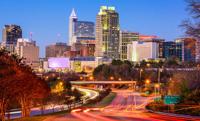 Downtown Raleigh, North Carolina skyline