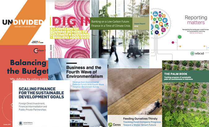 Report Report: Carbon bubble, resilient ag, water-smart future, SDG finance featured image