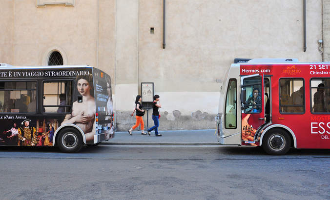 Buses in Rome, Italy