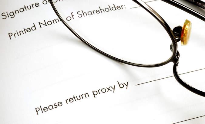 corporate proxy statement, shareholder activism