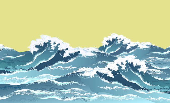 sea waves illustration