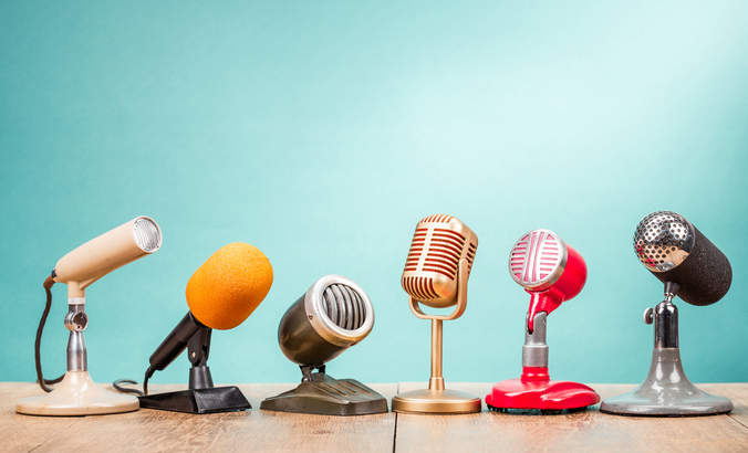 Microphones, employee activism, speak out