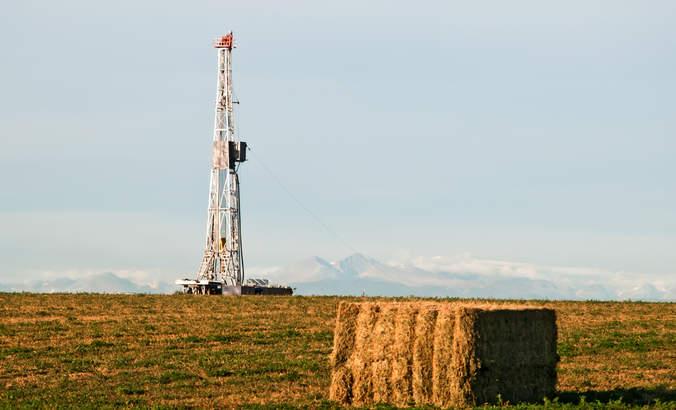 Oil rig, Colorado mountains