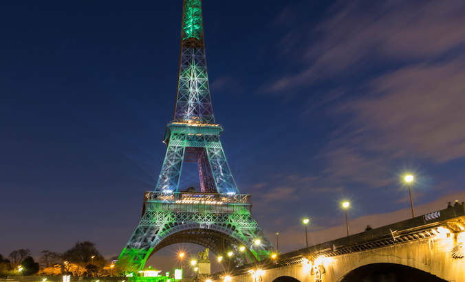 The Eiffel Tower during the 2015 COP23