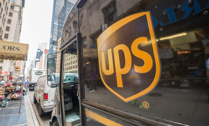 UPS truck in New York