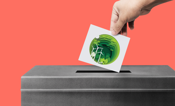 A ballot vote with a sustainable future